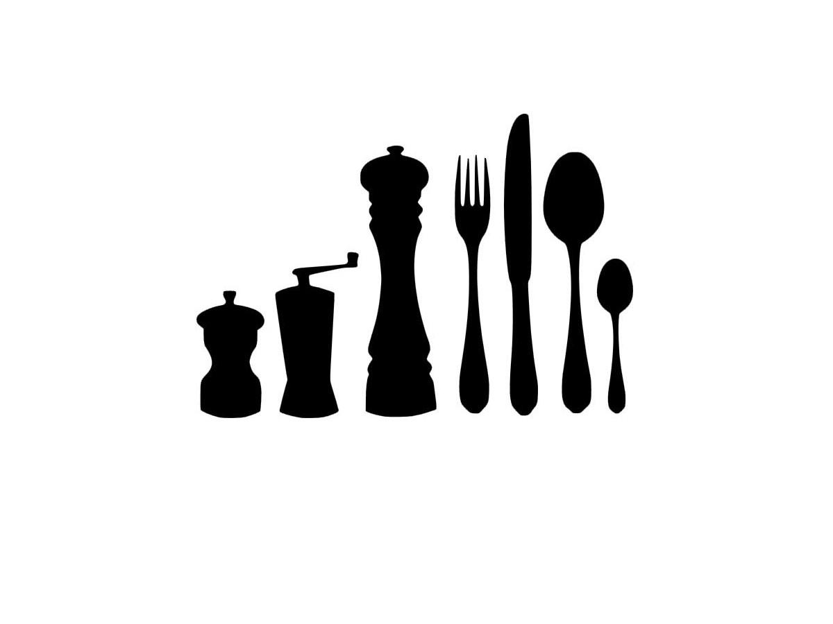 Set couverts de table cu11 goodies by sportcam for Pochoir cuisine