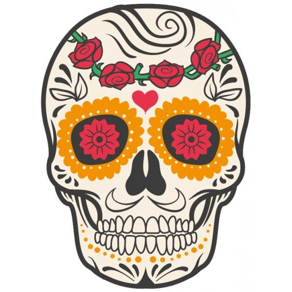 Tete de mort mexicaine tetem1 goodies by sportcam - Tattoo crane mexicain ...